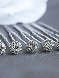 cheap -Cubic Zirconia Headwear / Hair Tool / Hair Stick with Floral 1pc Wedding / Special Occasion / Casual Headpiece / Hair Pin