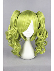 cheap -Synthetic Hair Wigs Curly Capless Cosplay Wig Short Green