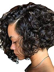 cheap -new style short bob wigs brazilian virgin human hair lace wigs lace front human hair wigs bob curly wigs virgin hair wig with baby hair for women