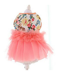 cheap -Dog Dress Dog Clothes Princess Pink Cotton Costume For Summer Men's Women's Casual / Daily