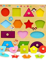 cheap -Building Blocks Jigsaw Puzzle Educational Toy Toys Square Wood Children's Unisex Pieces