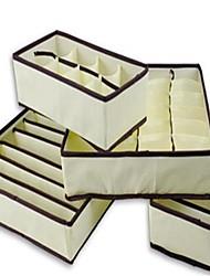 cheap -4Pcs Home Storage Box Bins Underwear Organizer Box Bra Necktie Socks Storage Organizer