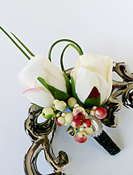 cheap -Wedding Flowers Bouquets / Boutonnieres / Others Wedding / Party / Evening Material / Bead / Lace 0-20cm