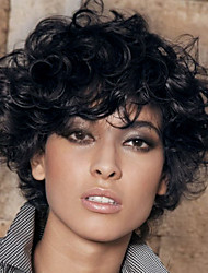 cheap -prevailing black short curly hair synthetic wig suitable for all kinds of people