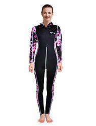 cheap -LAYATONE Women's Rash Guard Dive Skin Suit Sun Shirt Long Sleeve Diving Print Spring &  Fall