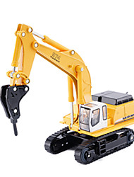 cheap -1:87 Excavator Drilling Rig Toy Truck Construction Vehicle Diecast Vehicle Pull Back Vehicle Simulation Car Kid's Car Toys