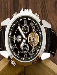 cheap -Men's Wrist Watch Quartz Leather Black Casual Watch Analog Casual Fashion - Silvery / White Gold / White Black / Silver