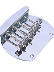 cheap -Bass Bridge Heavy 4 String Curved Bass Guitar Bridge For Electric Bass Chrome