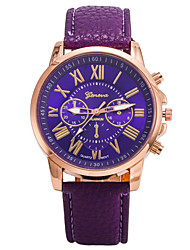 cheap -Women's Fashion Watch Quartz Leather Band Casual Brown Purple Yellow