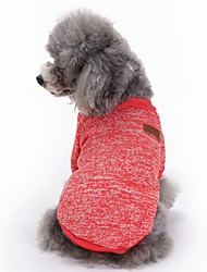 cheap -Cat Dog Coat Shirt / T-Shirt Winter Dog Clothes Light Blue Purple Fuchsia Costume Polar Fleece Solid Colored Sports Fashion XS S M L XL XXL
