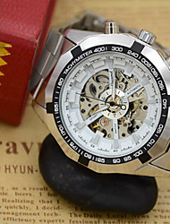 cheap -Men's Skeleton Watch Wrist Watch Quartz Silver Hot Sale Analog Casual Fashion - Silver / Black Gold / White White / Silver