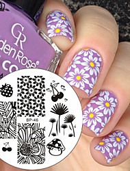 cheap -1 pcs Stamping Plate Template nail art Manicure Pedicure Fashion Daily