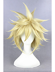 cheap -Synthetic Wig Cosplay Wig Straight Straight Wig Blonde Short Golden Blonde Synthetic Hair Women's Blonde