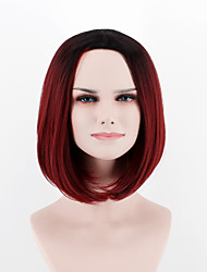cheap -Synthetic Wig Straight Straight Wig Ombre Red Synthetic Hair Women's Ombre