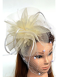 cheap -Tulle / Feather / Net Fascinators / Hats / Birdcage Veils with 1 Wedding / Special Occasion / Horse Race Headpiece