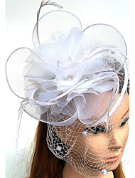 cheap -Tulle / Feather / Net Kentucky Derby Hat / Fascinators / Hats with 1 Wedding / Special Occasion Headpiece