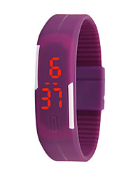 cheap -Women's Men's Unisex Fashion Watch Digital Plastic Band Casual Blue Pink Purple