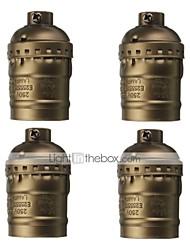 cheap -4 Pcs E26/E27 Socket Screw Bulbs Metal Shell Medium Base Edison Retro Pendant Lamp Holder Without Switch and Cord 110-240V