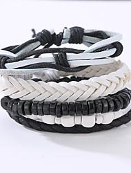 cheap -Men's Leather Bracelet Vintage Punk Leather Bracelet Jewelry Black For Christmas Gifts Anniversary Birthday Gift Sports Valentine
