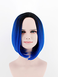 cheap -europe and the united states new fashion wig short hair breathable wig black blue omber synthetic fiber wig