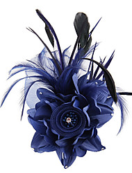 cheap -Fabric / Satin Fascinators / Flowers / Hair Tool with 1 Wedding / Special Occasion / Outdoor Headpiece