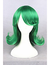 cheap -Cosplay Costume Wig Synthetic Wig Straight Straight With Bangs Wig Short Green Synthetic Hair Women's Green