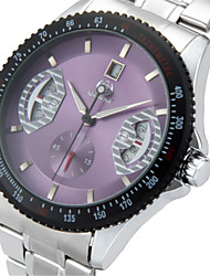 cheap -Men's Fashion Watch Quartz Stainless Steel Black / Silver Analog Casual - Purple Green