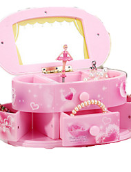 cheap -Music Box Music Jewelry box Ballerina Music Box Musical Jewellery Box Music Box Dancer Classic & Timeless Pink Ballet Dancer Lighting Unique Plastic Women's Boys' Girls' Kid's Adults Graduation Gifts