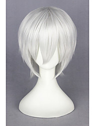 cheap -Synthetic Wig Cosplay Wig Straight Kardashian Straight Wig Short Silver Synthetic Hair Women's White