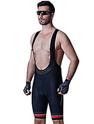 cheap -SANTIC Men's Cycling Padded Shorts Bike Bib Shorts Padded Shorts / Chamois Pants Breathable 3D Pad Sports Solid Color Elastane Black Mountain Bike MTB Road Bike Cycling Clothing Apparel Racing Race