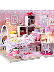 cheap -Dollhouse DIY Furniture House Wooden Classic Girls' Toy Gift