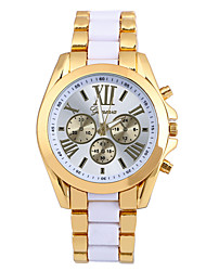 cheap -Men's Fashion Watch Quartz Alloy Band Casual Black White Blue Gold Yellow