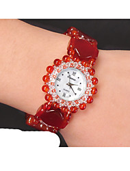 cheap -Women's Fashion Watch Quartz Jade Red Analog Red