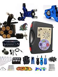 abordables -BaseKey Kit de tatouage professionnel Machine à tatouer - 3 pcs Machines de tatouage, Professionnel Alliage 20 W Source d'alimentation LED 2 x Machine à tatouer rotative pour le traçage et l'ombrage