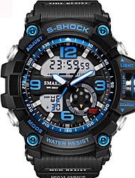 cheap -Men's Unisex Sport Watch Fashion Watch Military Watch Japanese Digital Silicone Black / Blue / Red 30 m Water Resistant / Waterproof Alarm Calendar / date / day Analog - Digital Khaki Black / Blue