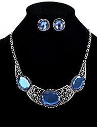 cheap -Women's Crystal Necklace / Earrings Ladies Personalized Euramerican Indian Elizabeth Locke Crystal Earrings Jewelry Blue For Wedding Party Daily
