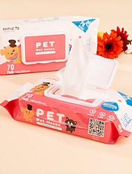 cheap -Cat Dog Cleaning Paper Wipes Portable Pet Grooming Supplies 1 set