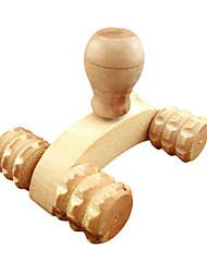 Недорогие -1шт дерево полного тела четыре колеса деревянный автомобиль ролик расслабляющий массаж рук инструмент