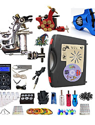 cheap -BaseKey Professional Tattoo Kit Tattoo Machine - 3 pcs Tattoo Machines, Professional Alloy 19 W LED power supply 1 steel machine liner & shader / 1 rotary machine liner & shader / 1 alloy machine