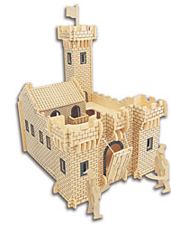 Недорогие -Набор для творчества 3D пазлы Пазлы Пазлы и логические игры Игрушки Квадратный Замок Знаменитое здание Китайская архитектура Лошадь Муж.
