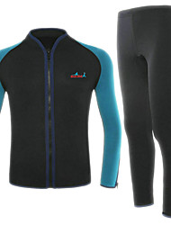 cheap -Bluedive Men's Full Wetsuit 2mm Neoprene Diving Suit Thermal / Warm Quick Dry Long Sleeve 2-Piece Front Zip - Swimming Diving Surfing Patchwork / Stretchy / 2 Piece