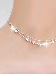 cheap -Women's Body Jewelry Leg Chain Silver Natural / Fashion Alloy Costume Jewelry For Wedding / Party / Special Occasion Summer / Star / Anniversary / Birthday / Graduation / Engagement