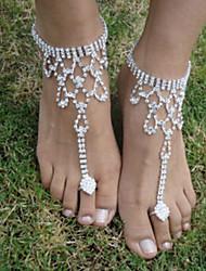abordables -Femme Sandales Pieds Nus Oiseau Mode Bracelet de cheville Bijoux Argent Pour Mariage Soirée Halloween / Strass