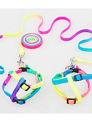 cheap -Dog Leash Adjustable/Retractable Training Rainbow Nylon