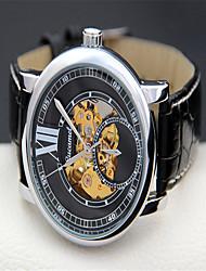 cheap -Men's Fashion Watch Quartz Leather Black Analog Casual - Black / Gold Silvery / White Gold / White