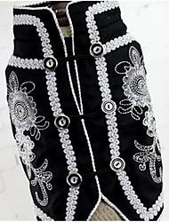 cheap -Dog Vest Dog Clothes Random Color Costume Cotton Flower Casual / Daily Fashion S M L XL