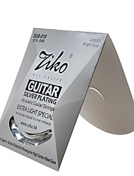 cheap -Professional String High Class Guitar Acoustic Guitar New Instrument Silver Plated Musical Instrument Accessories White