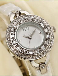 cheap -Women's Fashion Watch Quartz White Analog Gold White