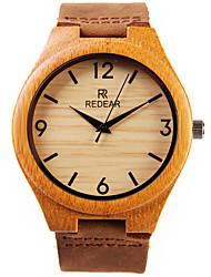 cheap -Men's Wrist Watch Quartz Japanese Quartz Cool Wooden Analog / Leather