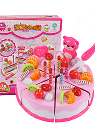 cheap -Toy Kitchen Set Toy Food / Play Food Pretend Play Fruit Cake Dessert Simulation PVC(PolyVinyl Chloride) Kid's Boys' Toy Gift